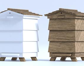 Wooden Beehive 3D model