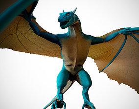 3D model rigged Wyvern