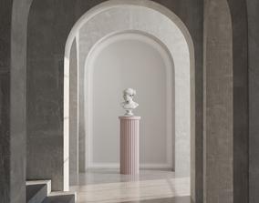 corridor and sculpture 3D model