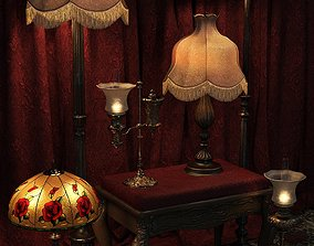 3D Vintage Lamps Iray