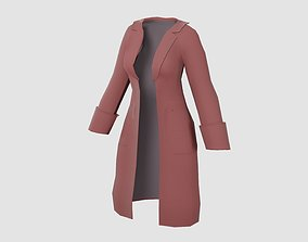 3D model Raincoat for girls