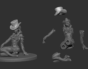 Steampunk Girl Pinup 3D print model