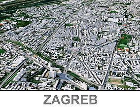 Zagreb City 3D asset