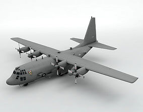 3D model game-ready Lockheed AC-130U Spooky Aircraft