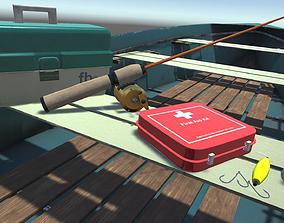 3D model Fishing Gear Pack PBR