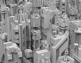 PACK SF FUTURISTIC SKYSCRAPERS 3D model