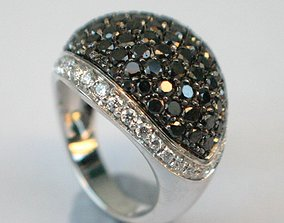 PAVE ring 3D print model Anello Pave An39 jewelry