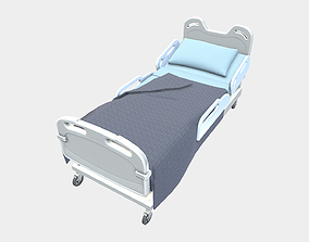 Low Poly PBR Hospital Bed 3D asset