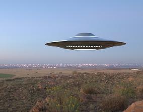 3D Realistic Ufo - Ovni - Nave Espacial