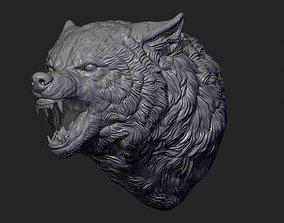 Wolf face head werewolf 3D print model