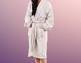 11367 Anita - Asian Woman Bathrobe standing 3D model 2