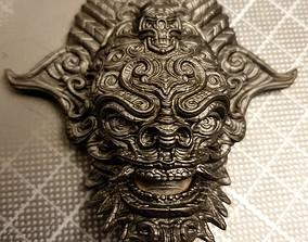 3D printable model art Bali inspired mask