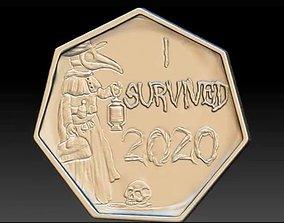 3D print model I Survived 2020 Coin