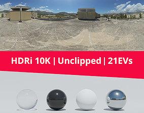 HDRi - Sky buildings and terrace 3D model