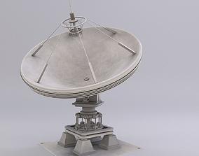 3D model low-poly Satellite Dish