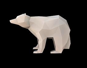 Bear Low Poly 3D asset
