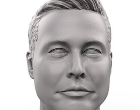 hero Elon Musk 3D printable portrait sculpture