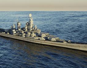 3D model Battleship USS Iowa