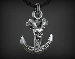 Pendant Sea Devil STL 3D print model