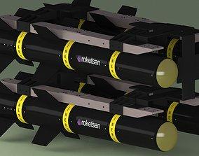 Missile - Roketsan - Umtas 3D Model