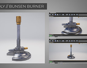 3D asset Lowpoly BUNSEN BURNER Game Ready perfect for VR 2