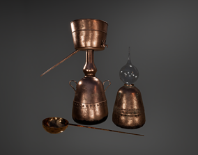 Alchemical Equipment Collection 3D asset