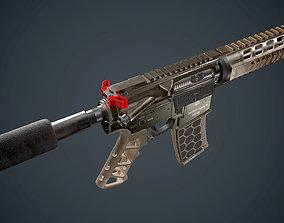 3D asset AR 15 Diamondback