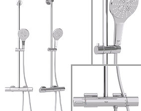 Shower system Grohe Rainshower Smartactive Cube 310 v2 3D