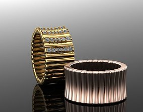 bone design ring 3D printable model