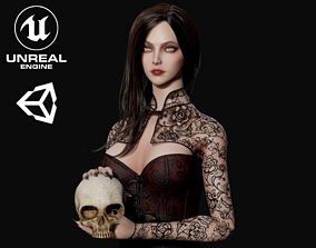 3D asset rigged Lady Vamp - Game Ready