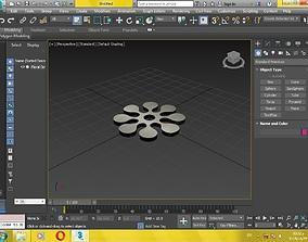 Floral ornament for 3d print