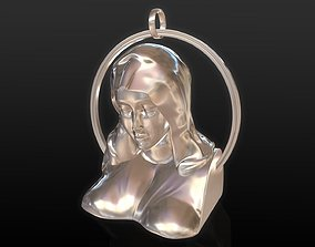 jesus 3D print model Mother Mary Pendant