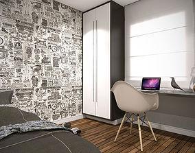 3D Bedroom sketchup