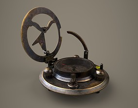 Vintage Compass 3D model animated