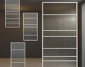Glass partition door 28 3D model