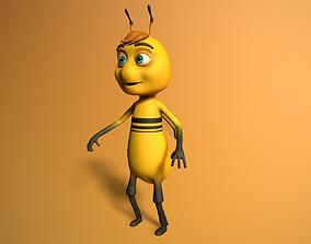 cartoon bee boy 3D asset animated