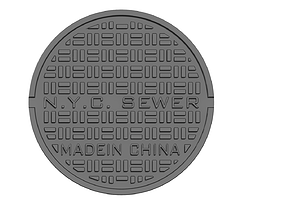 3D printable model Drink coaster -NYC manhole cover