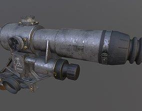 3D model 1OP50 SSP Russian Machine gun Scope