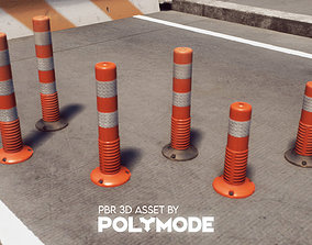 Traffic Delineator 01 PBR Game-ready 3D asset