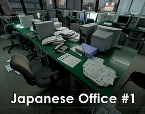3D asset Japanese Office Pack - Over 100 Models