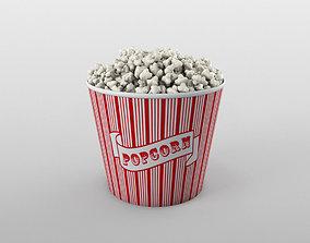3D model low-poly Popcorn bowl