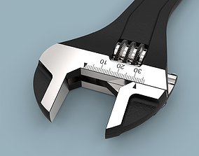 Adjustable wrench 3D tools