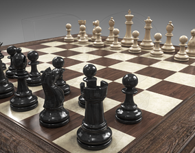 3D Chessboard with pieces