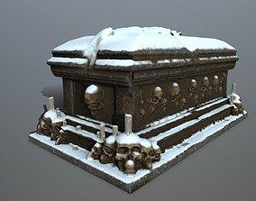 3D asset VR / AR ready tomb 1