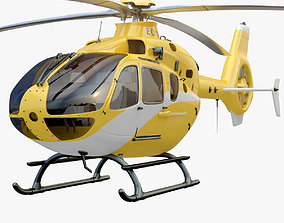 3D model Eurocopter EC 135 Yellow