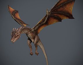 3D model animated Dragon-Maya-Animation