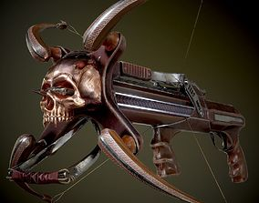 crossbow 3D model animated