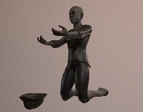 Poor blind boy 3D model