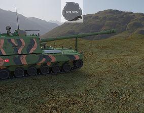3D model animated FIRTINA OBUSU Turkish Army