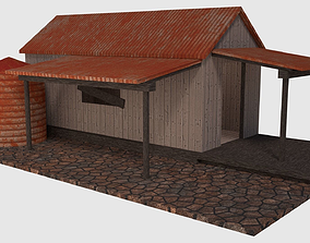 Rusty Old Shack - Game Ready 3D model